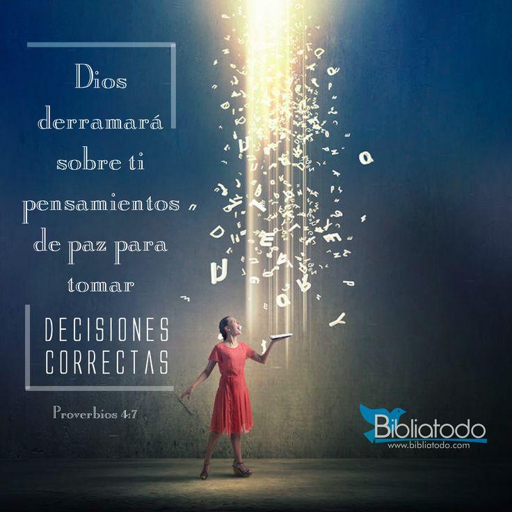 Dios te da pensamientos para tomar decisiones correctas