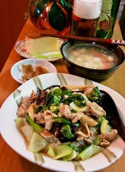 豚肉とチンゲン菜の中華丼 ~ 味覇 ウェイパーとオイスターソースで ...