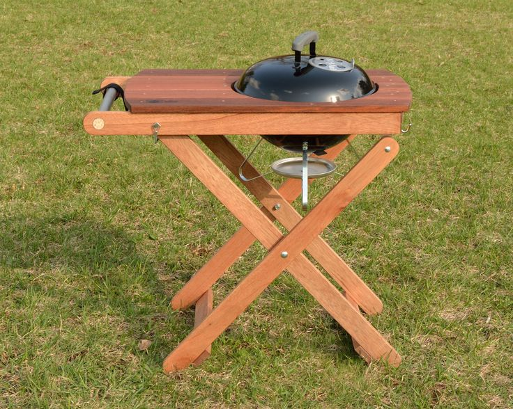 Get that Weber Smokey Joe out in the world and up off the ground with our handy, collapsible, stylish Short Order Cook grill station.