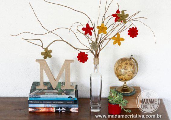 Como fazer flores de Feltro - Dicas e passo a passo com fotos - DIY - Tutorial - How to make felt flowers - Madame Criativa - www.madamecriativa.com.br