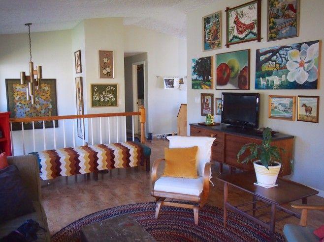 17 best images about split levels on pinterest entry for Split level living room ideas