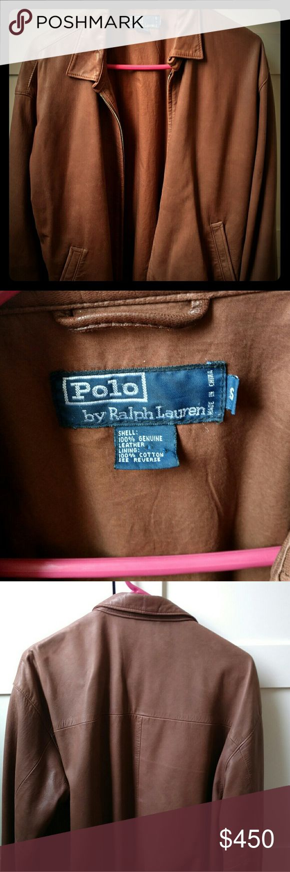 Super-soft Polo leather jacket This brown leather (lambskin) jacket by Polo by Ralph Lauren is amazingly soft.  It is lined with cotton poplin.  Men's small.  Great vintage condition Polo By Ralph Lauren Jackets & Coats Bomber & Varsity
