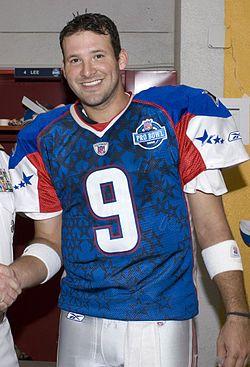Tony Romo (9) before 2008 Pro Bowl.JPEG