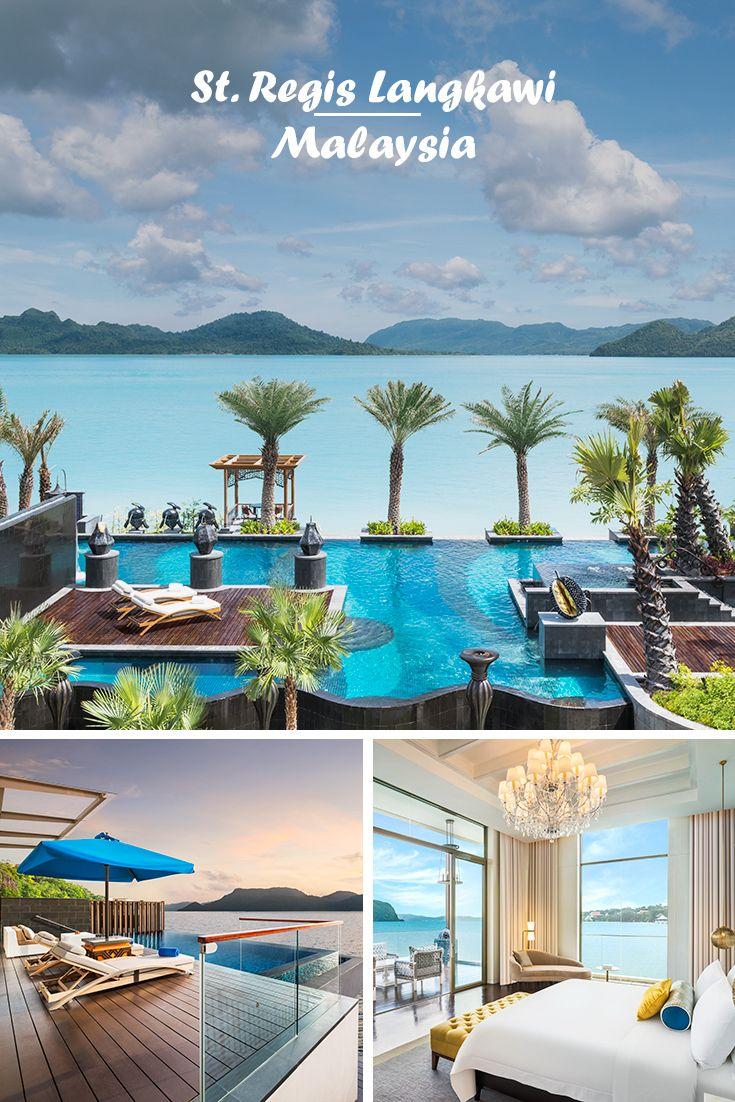 ST. REGIS LANGKAWI | Malaysia - Langkawi: Weißer Sand, türkisblaues Meer und grüne Berge - die Kulisse für dieses stylishe Resort mit sensationellen Villen über dem Wasser auf der malaysischen Hauptinsel