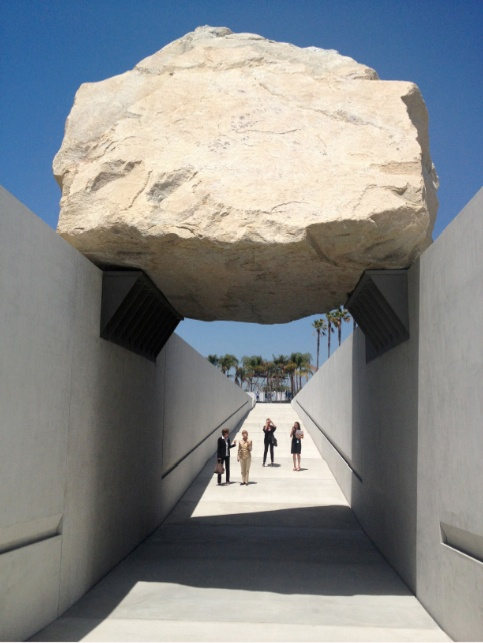 Michael Heizer's Levitated Mass at LACMA.
