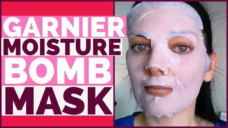 Garnier SkinActive Moisture Bomb Sheet Mask Demo & Review