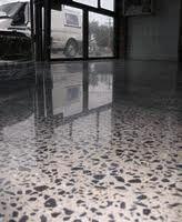 beautiful polished aggregate concrete floor