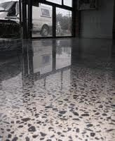 beautiful polished aggregate concrete floor
