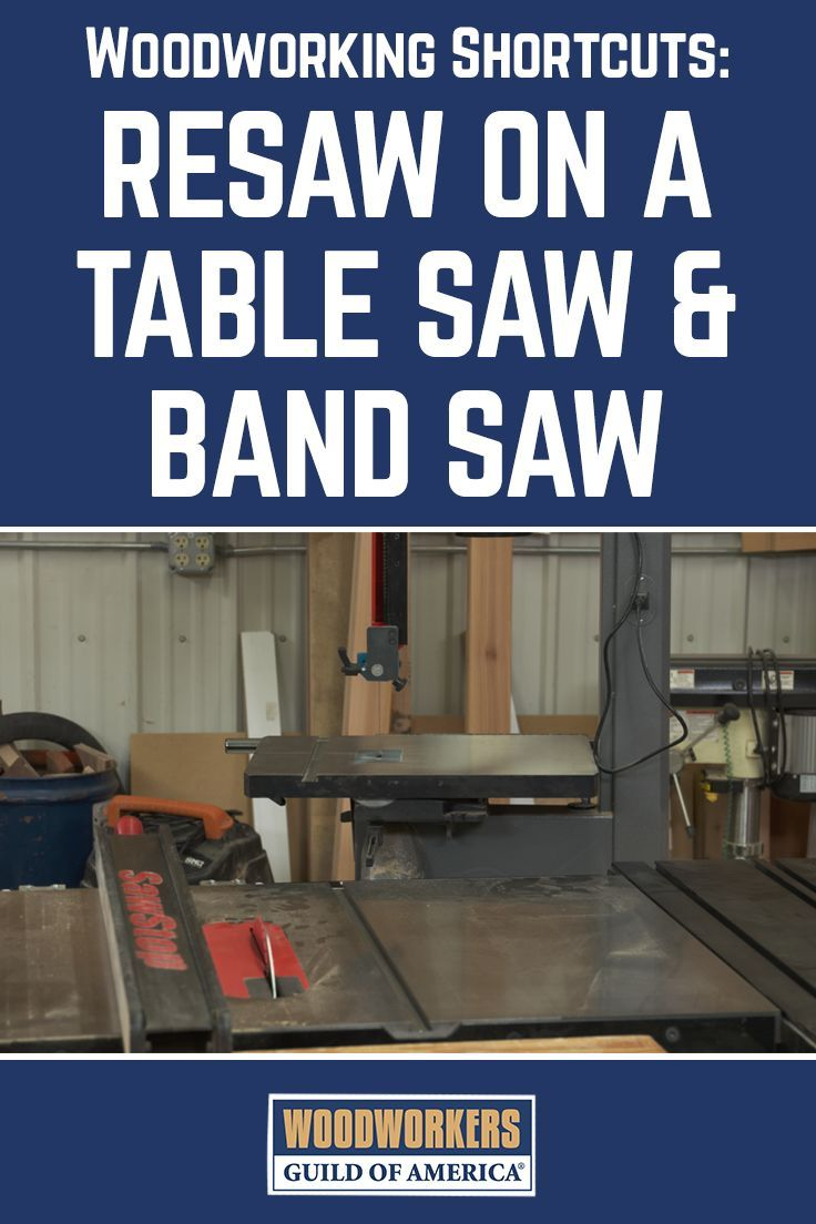 Resawing is a great way to efficiently size your lumber to the desired thickness, and unlike planing to thickness which causes you to destroy the portion that you remove, with a resaw cut you can utilize both pieces. You can resaw narrow boards on a table saw, and wider boards on a bandsaw if yours has adequate capacity, but have you ever thought of using both of these tools to team up?…