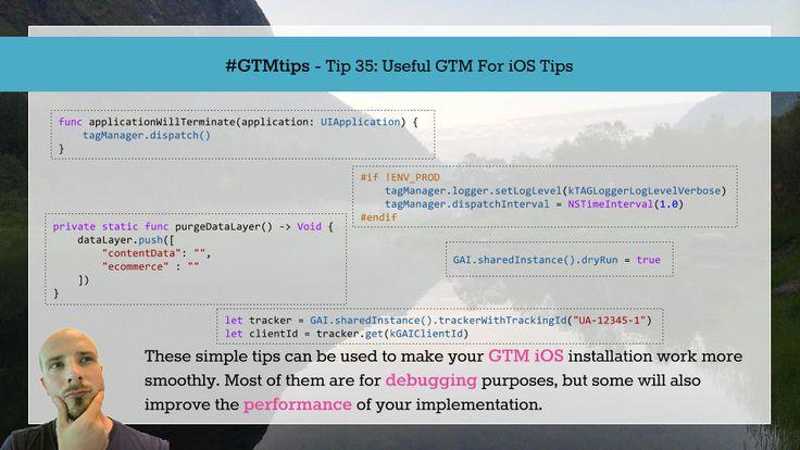 #the5: Simo Ahava with #GTMTips: Useful GTM For iOS Tips: