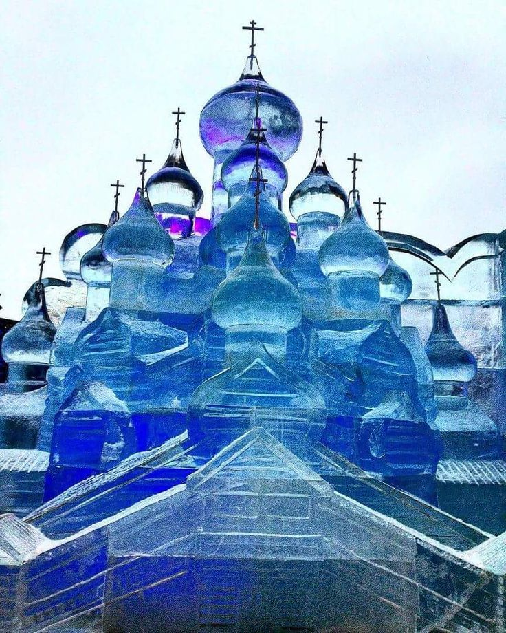 """The """"Ice Moscow"""" festival was held at Poklonnaya Hill"""