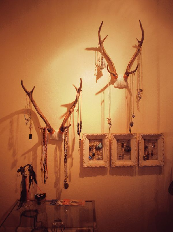 @Madeline Fox Read Moose Antlers as Jewelery Organizer