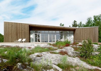 This is actually a prefab house designed by architects Claesson Koivisto Rune, for Swedish manifacturer Arkitekthus.
