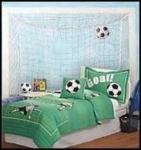 Soccer net on wall.