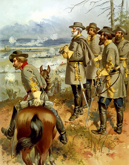Union army in battle | American Civil War Art | Pinterest