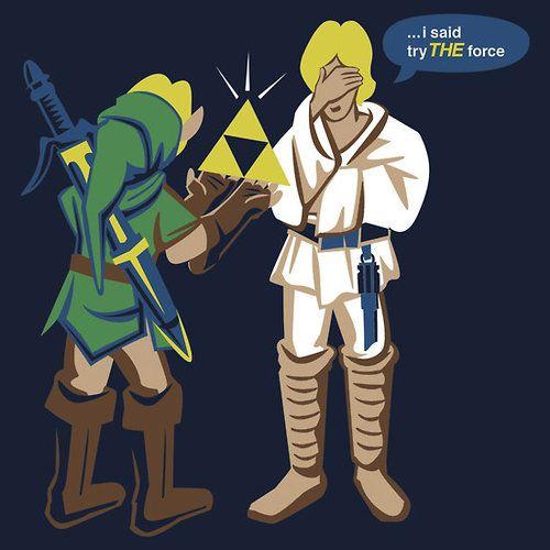 I said try THE force: Nerdy, Legends Of Zelda, Geeky Culture, Link, Stars War, Funny Stars, Palms, Starwars, Forcepalm T Shirts