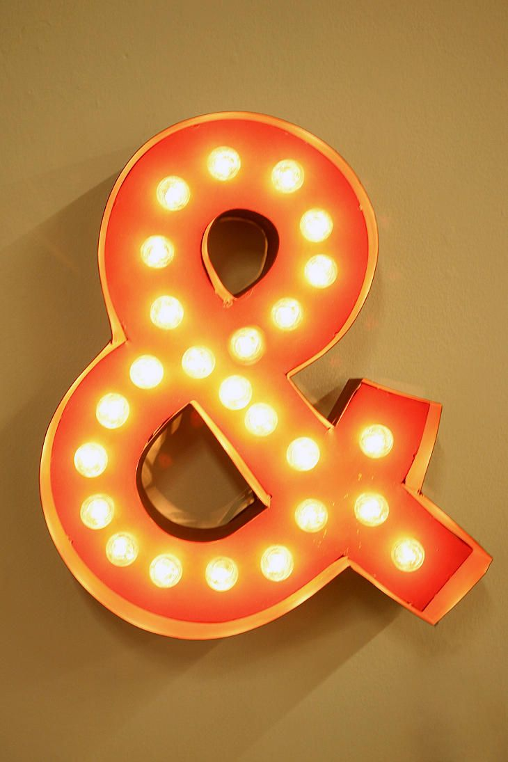 """""""&"""": Urban Outfitters, Trav'Lin Lights, Night Lights, Ampersand Marque, Marquee Signs, Baby Rooms Design, Marquee Lights, Marque Lights, Modern Interiors"""