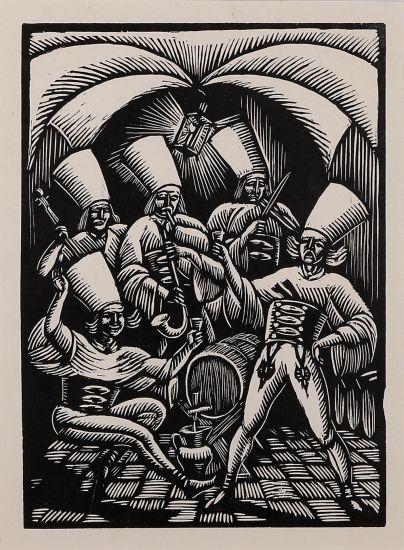 Władysław Skoczylas - W murowanej piwnicy, 1929 r.