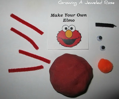 Make Your Own Elmo kits! Homemade party favors your toddler can help you make. Sure to inspire creativity.