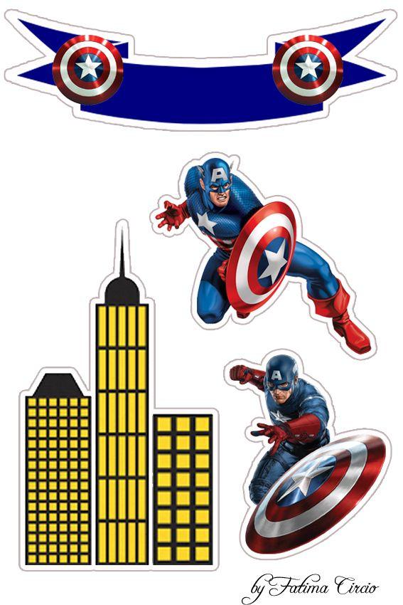 Картинка для печати на торте капитан америка