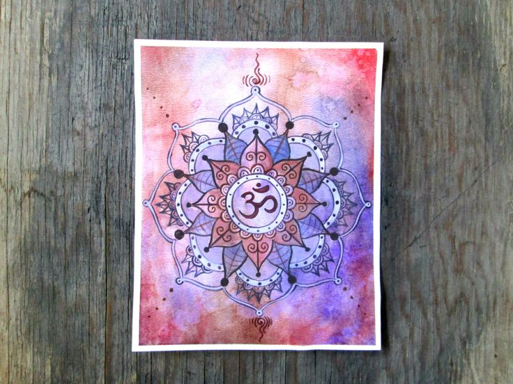 Buddhist Art, Mandala Chakra, Ohm Painting, Crown Chakra Mandala, Yoga Art, Shanti Art, Crown Chakra Painting, Spiritual Art, Namaste Art by EarthChildArt on Etsy https://www.etsy.com/uk/listing/220967733/buddhist-art-mandala-chakra-ohm-painting