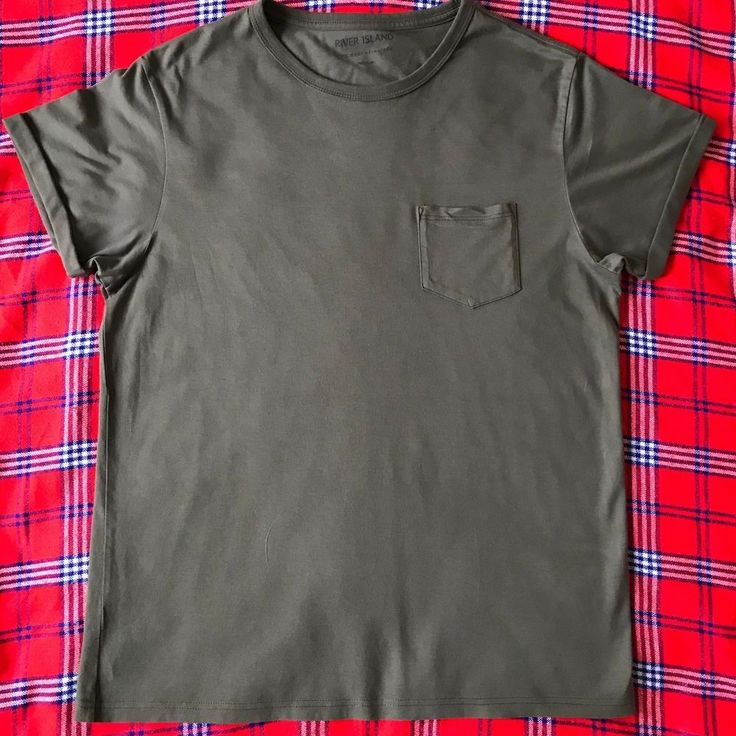 Men's Medium Plain Green River Island T-Shirt #RiverIsland