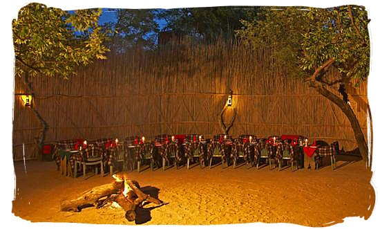 Bushveld dinner in the boma