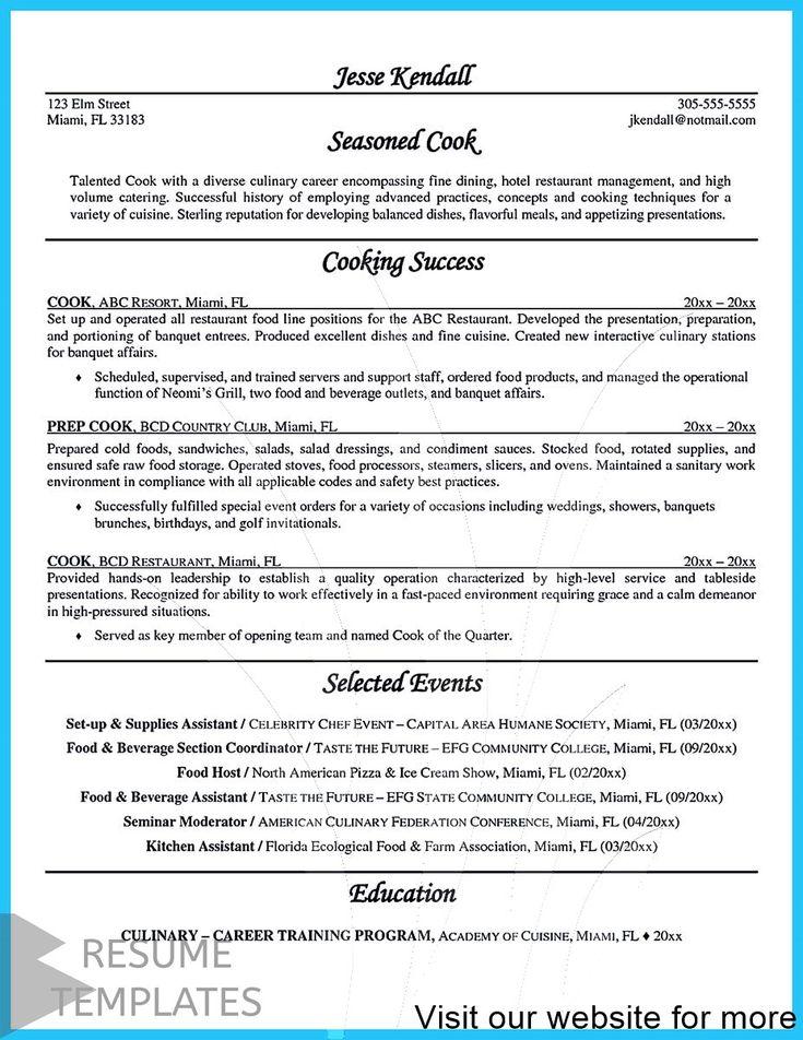 resume builder australia Professional in 2020 Chef