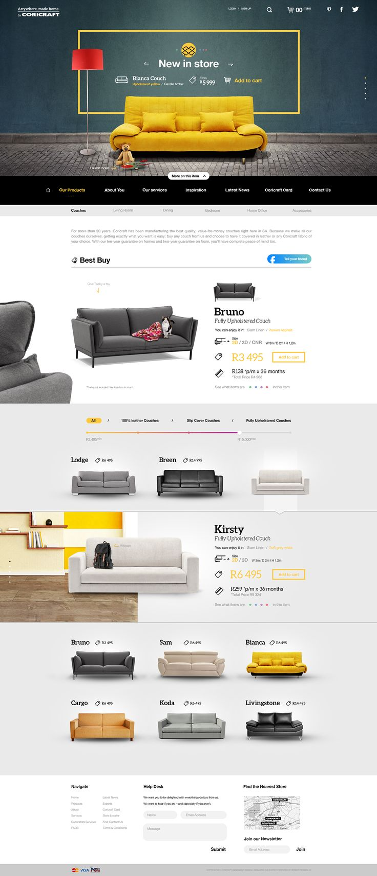 Concept UI for Coricraft on Behance
