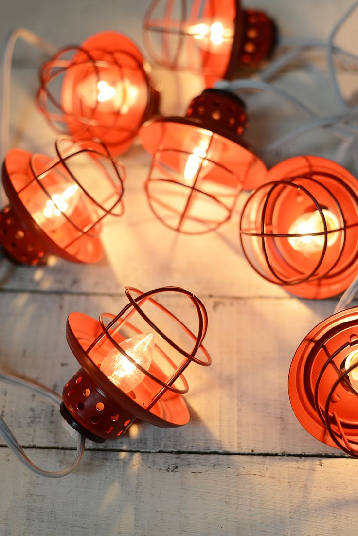 Mini paper lantern string lights - Metal Lantern String Lights Red 10ct Love This Look