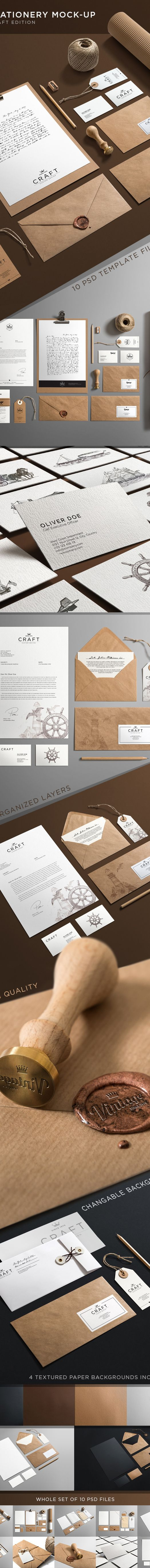 Stationery Mock-Up by Andrej Sevkovskij, via Behance