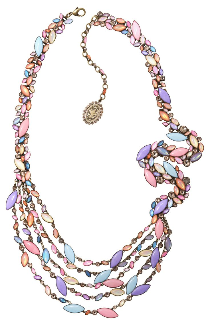Halskette Collier Dance with Navette Pastell Multi