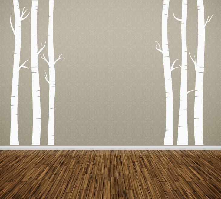Wall Art Tree T5 Birch Vinyl Decor Decal Sticker Mural Decoration on Aliexpress.com $25