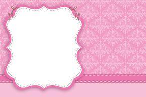 Convite Moldura e Cartão Rosa Arabesco: