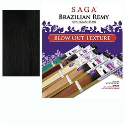 "Tue May 3, 2016 - #8: Saga Brazilian Remy Blow Out Straight 18"" - Color 1 - Remi Weaving"