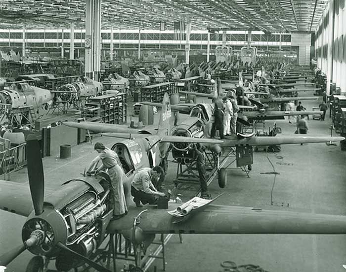 This is an image of Canadian assembly lines during World War II. This source is credible as it is an image taken in a Canadian aviation factory. This tells us about the changing lives of Canadians at the time because it shows that industry and manufacturing were increasing to stimulate the economy. Employment was created, Canadians were earning wages, and Canada was coming out of the depression.