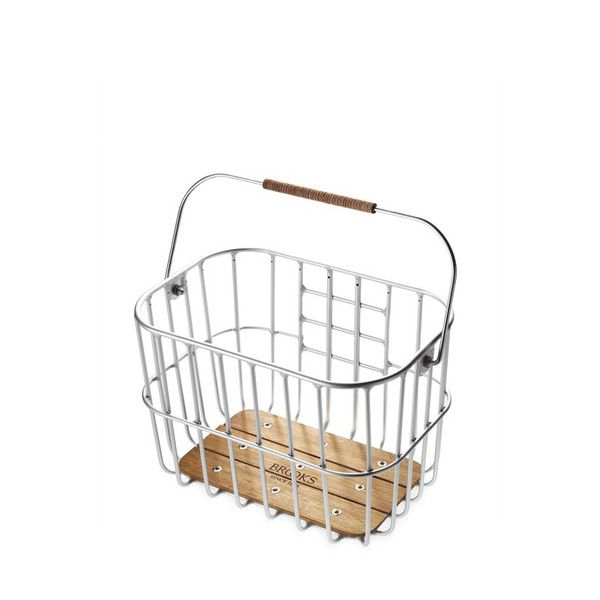 Brooks Hoxton Wire Basket With Wooden Base | The Pepin Shop for carefully chosen design, fashion, furniture and wall decor products