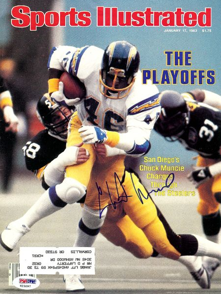 Chuck Muncie Autographed Sports Illustrated Magazine San Diego Chargers PSA/DNA #X23297