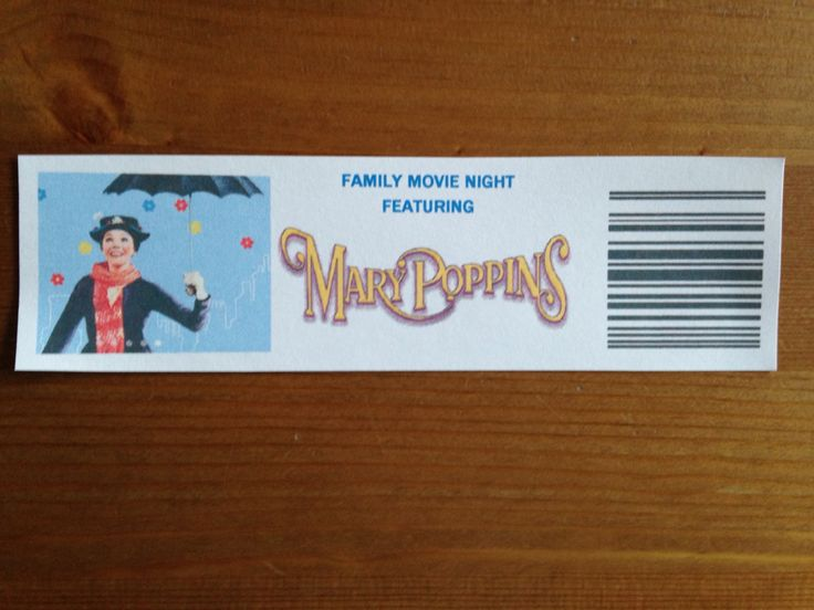 Our Mary Poppins Tickets - Mary Poppins Movie Night - Disney Movie Night - Family Movie Night
