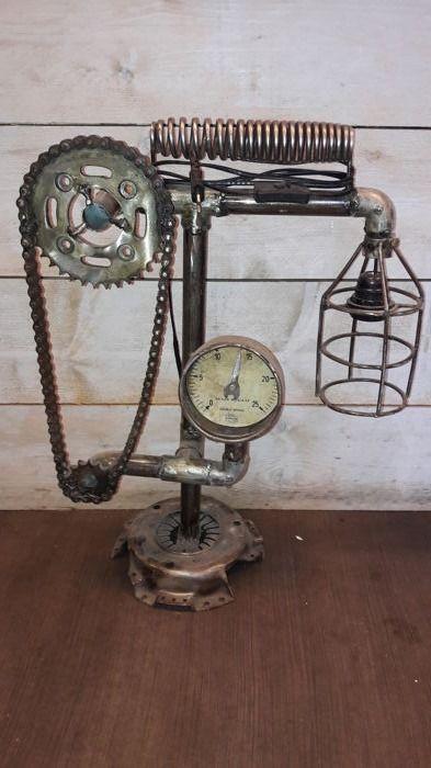Nu in de #Catawiki veilingen: Steampunk disign lamp