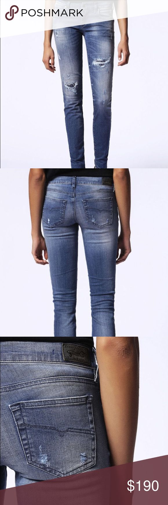 Diesel Denim EUC Sz. W28-L30 Grupee Diesel Denim EUC Style Grupee Wash #0679C Super Slim-Skinny Low Waist with Stretch. Size W28 L30, I normally wear a 27 but I wanted a looser fit since they are Slim-Skinny! ALL Diesel Denim is hand distressed and last forever. Has scan code for AUTHENTICITY. If you have any questions just comment below! Make me an offer! Diesel Pants Skinny