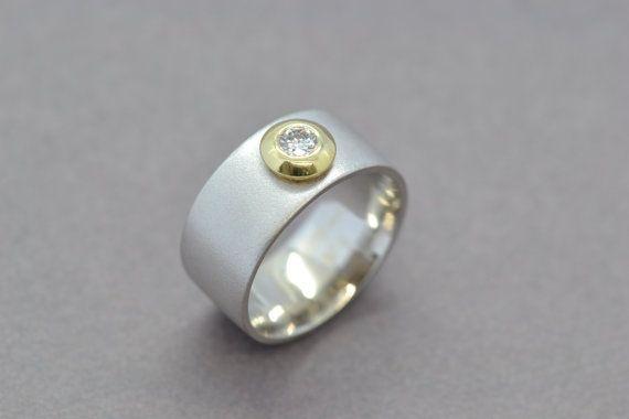 Modern Diamond Engagement Ring Modern Wedding by SuttonSmithworks