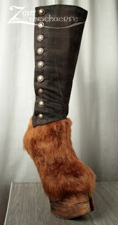 WIP - Hooves for a steampunk faun by Zeitunschaerfe