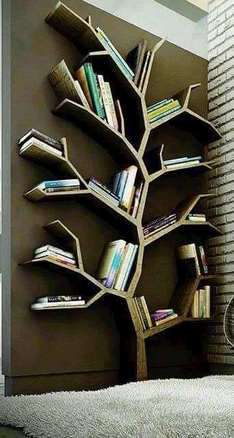 librero - repisas en forma de ramas de arbol