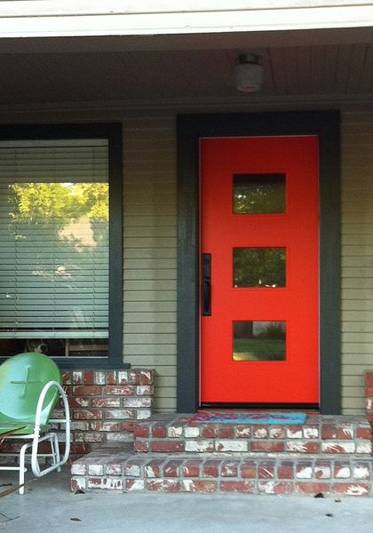 Crestview Doors - Pictures of modern front doors for mid-century modern houses, 1950's ranch homes, retro ramblers, post-war bungalows and new construction