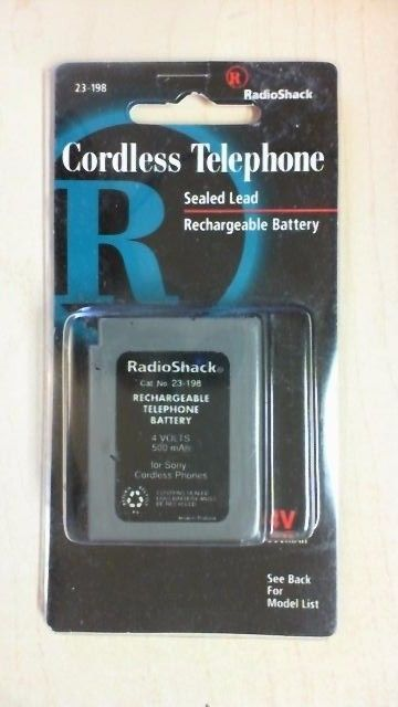 Radio Shack Cordless Telephone  Rechargeable Battery- BRAND NEW IN PACKAGE R8T1 #RadioShack