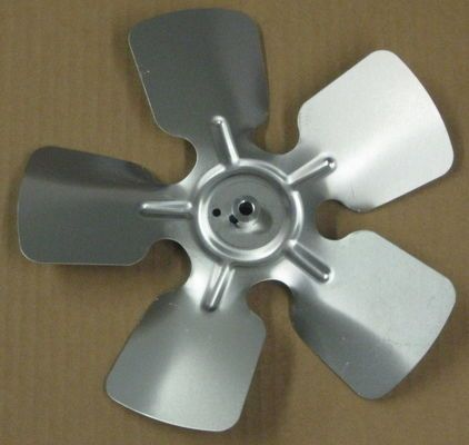 "A65132 Metal Fan Blade 10"""" Diameter 5 Blades 5/16"""" Bore Hub CW 20 Degree Prop"