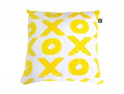Pasta Amore noughts and crosses cushion. Shop from www.sackme.com.au