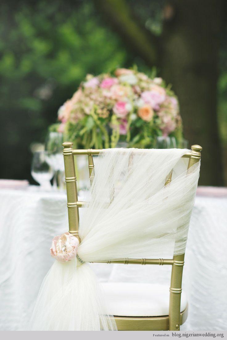 wedding chair cover designs | Nigerian Wedding: 10 Classy & Elegant Wedding Chair Cover Ideas