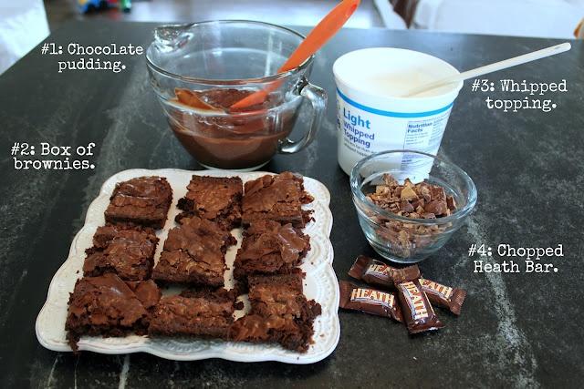 Brownie Heath Bar TrifleDesserts, Auction, Chocolates Trifles, Sugary Yum, Trifle Recipe, Brownies Heath, Chocolate Trifle, Bar Trifles, Trifles Recipe